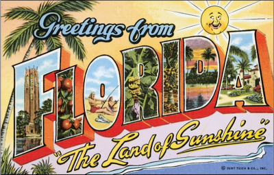 Greetings from Florida Postcard 400px