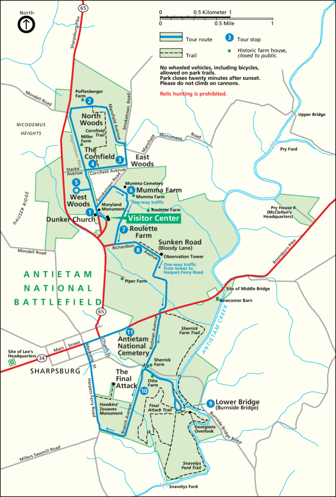 NPS Antietam Battlefield Map 999px