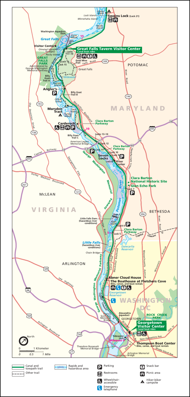 NPS Potomac River Gorge Map 999px