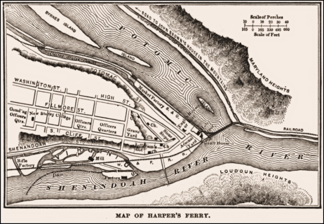 Old Map Harpers Ferry