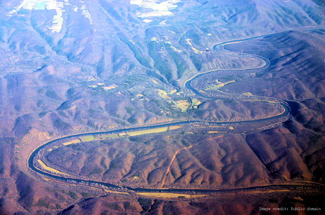 River Bends near Little Orleans with image credit
