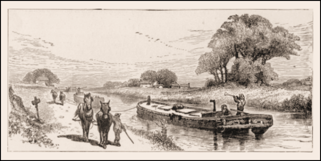 Towboat line drawing