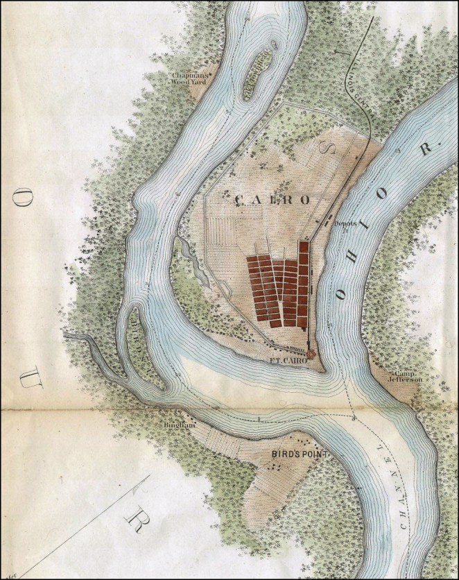 Mississippi-Ohio Confluence 1865 Chart Detail 999px