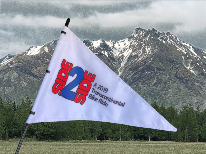 Flag against mountain backdrop 1425 px